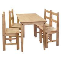 Stůl + 4 židle CORONA 2 vosk 161611 IDEA nábytek
