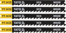 Yato List pilový do přímočaré pily 91,5 mm na dřevo TPI6 5 ks YT-3432
