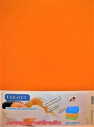 VERATEX Jersey prostěradlo postýlka 70x140 cm (č.23-oranžová)