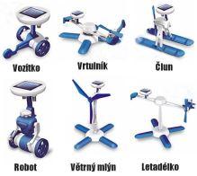 Solární stavebnice - hračka SolarBot modrý skládačka Robot SolarKit 6 v 1 verze 2012