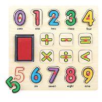 Brimarex dřevěné puzzle s miniatury a inkoustové číslice