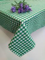 VERATEX Bavlněný ubrus tkaný 120x140cm kanafas zelené srdíčko