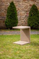Odkládací stolek k lehátkům Barva: šedá, Velikost: Větší - DF-010128