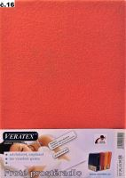VERATEX Froté prostěradlo jednolůžko 90x200/16cm (č.16 malina)