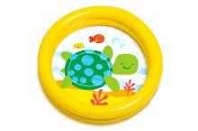 Dětský bazének INTEX (61x15cm) - Žlutý s želvičkou - 6941057454092