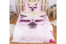 3D povlečení 140x200 + 70x90 - Crazy cat - 8592753021781