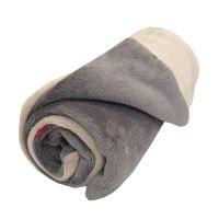 Aesthetic Mikroplyšová deka/ přehoz - béžová - šedá střední Rozměr: 100 x 140 cm