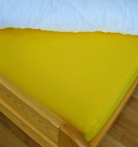 VERATEX Bavlněné prostěradlo jednolůžko 140x240 cm (sytě žluté)