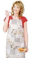 VERATEX Kuchyňská zástěra EMA 67x84cm béžovošedý patchwork