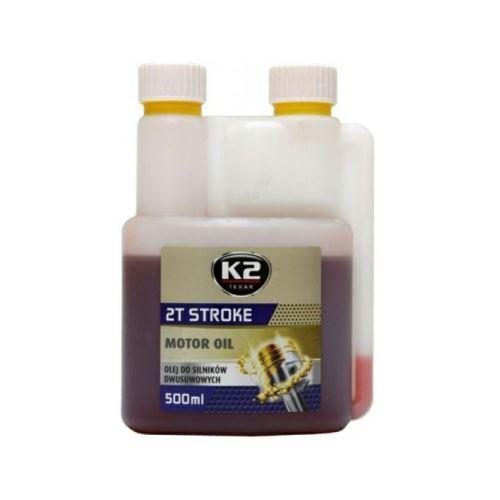 K2 K2 TEXAR 2T STROKE 500ml ČERVENÝ - Polosynt. 2takt. olej amK04354
