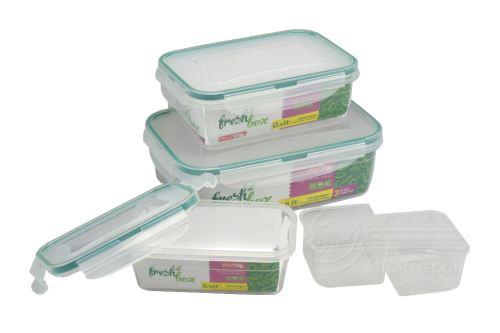 Plastový box se silikonovým těsněním IRAK - Set 3ks 0,4l+0,8+2,6l - 8696219361302