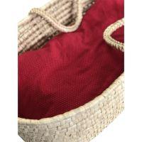 Aesthetic Hnízdo pro miminko péřové-podložka - bavlněný úplet s elastanem-červená s puntíčkem bonding