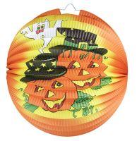 Lampion Halloween - veselé dýně 25 cm (8590687022225)