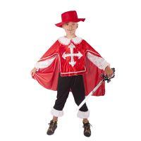 Dětský kostým mušketýr červený (M) (8590687189966)