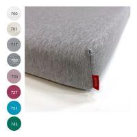 Aesthetic Prostěradlo bavlněný úplet s elastanem - do dětské postýlky - 60x120 cm - mix barev TYP: 760 - šedá melange