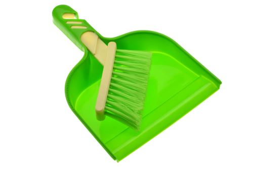 Mini smetáček a lopatka (23cm) - Zelený - 6926751680381