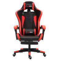 Herzberg HG-8080:Herzberg HG-8080: Ergonomická herní židle ve stylu závodního vozu červená