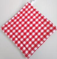 VERATEX Textilní podložka pod hrnec 20x20cm červený kanafas tkaný