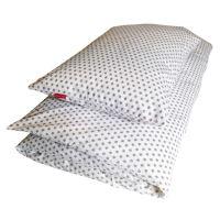 Aesthetic Povlečení bavlněné plátno - STAR šedá na bílé Rozměr: 135x200, 70x90 cm