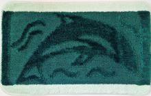 VERATEX Koupelnová předložka 50x80 cm tm.zelený delfín
