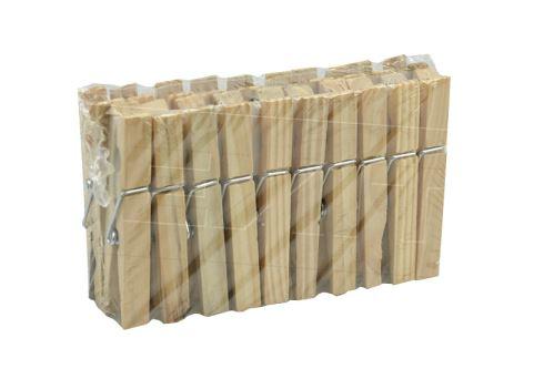 Dřevěné kolíčky na prádlo HOME POINT (20ks) - 8595599102058