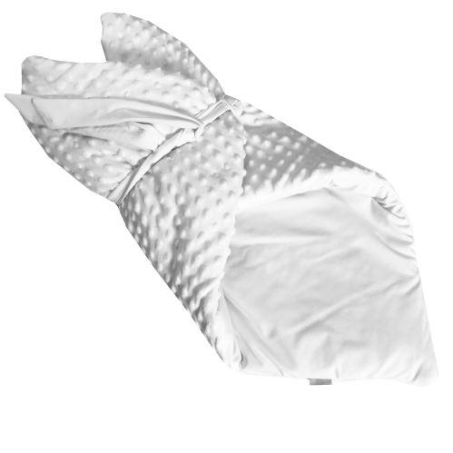 Aesthetic Rychlozavinovačka  /deka 2v1 minky bílá - bílá bavlna - 80x80 cm