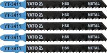 Yato List pilový do přímočaré pily 100 mm na kov TPI8 5 ks YT-3411