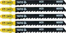 Yato List pilový do přímočaré pily na dřevo typ T 6TPI sada 5 ks YT-3403