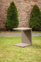 Odkládací stolek k lehátkům Barva: světle hnědá, Velikost: Větší - DF-010111