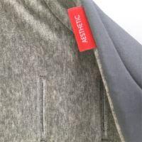 Aesthetic Podložka DO KOČÁRKU oboustranná - bavlněný velur šedá melang / šedá plátno