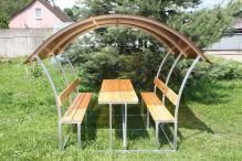zahradní zastřešená lavička LANITPLAST ASTRA 3 / bronz PC 8 mm