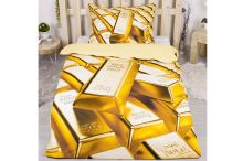 3D povlečení 140x200 + 70x90 - Gold - 8592753026106