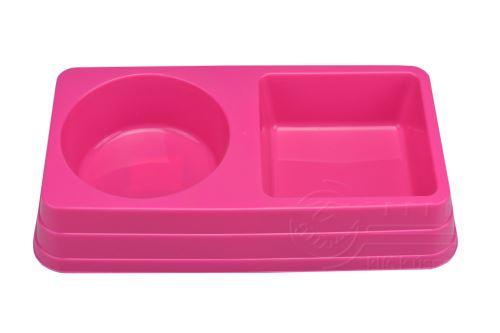 Dvojitá plastová miska na krmivo
