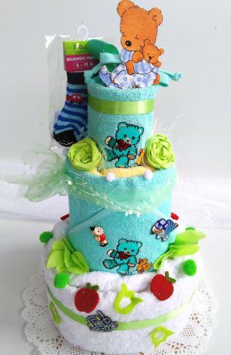 VERATEX Veratex Dětský textilní dort - třípatrový