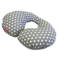 Aesthetic Bezpečnostní nákrčník bavlna plátno - hvězdička na šedé