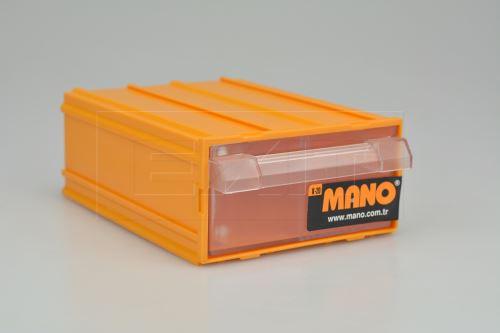 Plastový organizér do dílny MANO K-20 (14x10x5cm) - Žlutý - 8697444381110