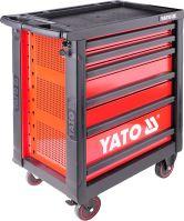 Yato Skříňka dílenská pojízdná s nářadím (177ks) 6 zásuvek YT-5530