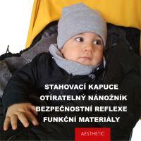 Aesthetic Fusak EKONOMY 3v1 nastavitelný - Klasik - šedá střední - tyrkysová
