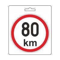 Samolepka omezená rychlost 80km/h (110 mm) 34486