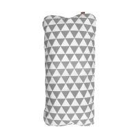 Aesthetic Hnízdo pro miminko péřové-podložka - bavlněné plátno - triangel šedá/bílá