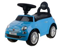 Odrážedlo Fiat 500 tlačný modrý
