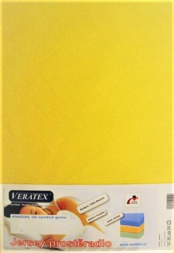 VERATEX Jersey prostěradlo postýlka 70x140 cm (č. 6-stř.žlutá)