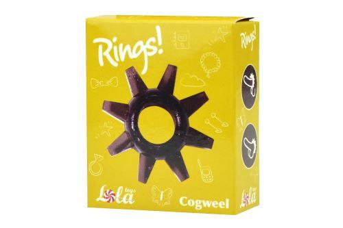 Kroužek na penis (1.4cm) - Cogweel, černý - 4603721517350