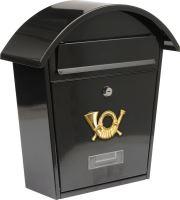 Vorel Poštovní schránka se stříškou oblou 380x320x105mm černá TO-78585