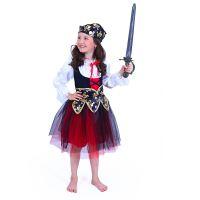 Dětský kostým pirátka (M) (8590687199521)
