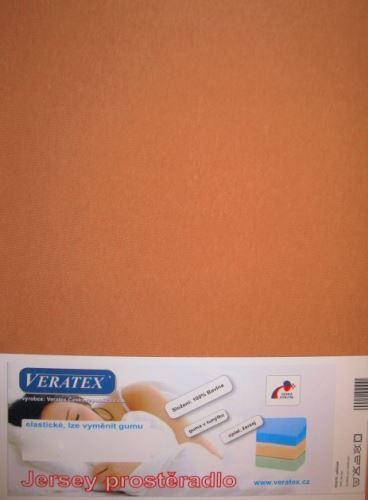 VERATEX Jersey prostěradlo 140x200 cm (č.34-sv.rezavá) SKLADEM POSLEDNÍ 1KS