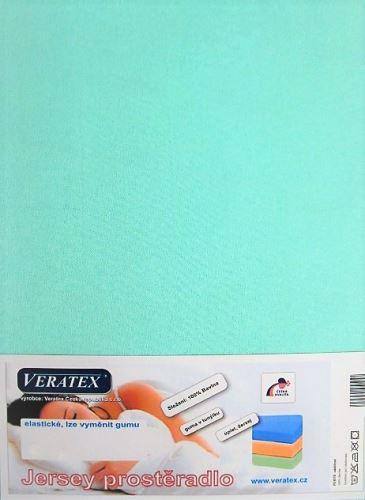 VERATEX Jersey prostěradlo  jednolůžko 90x200/15 cm (č.26-tyrkysová)