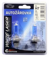 Compass Žárovka 12V  H7  55W PX26d WHITE LASER blister 2ks 08627
