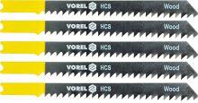 Vorel List do přímočaré pily 100 mm na dřevo TPI6 5 ks TO-27830