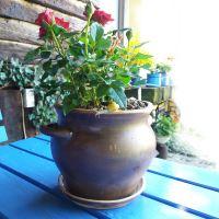 Keramický květináč s podmiskou - buclák střední